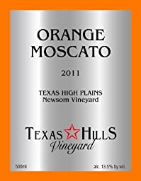 2012 Texas Hills Vineyard Orange Moscato 500 ml