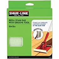Shur Line 1791258 Groove Tool Replacement Stain Pad-DECK PAD GROOVE REFILL