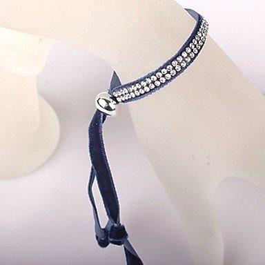 Two Rows Of Blue Velvet Ccb Buckle Bracelet