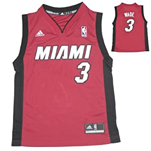NBA MIAMI HEAT WADE #3 Youth Athletic Jersey Top by NBA