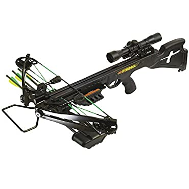 PSE Fang 350 Crossbow Package with 4x32 Scope (Black)