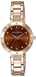 Giordano Analog Brown Dial Womens Watch - 2727-55