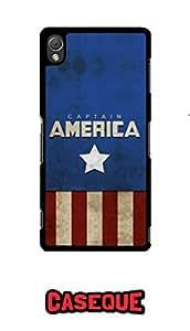 Caseque Starmark Captain America Back Shell Case Cover For Sony Xperia Z3