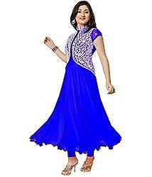 RadadiyaTRD Navy Blue Dress Material (Koti_dress_Free Size)