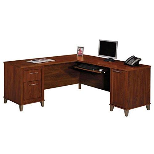 Bush Furniture Bush Somerset 71 Inch L Desk Cherry