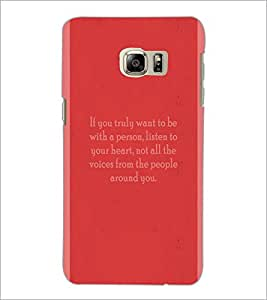 PrintDhaba Quote D-4974 Back Case Cover for SAMSUNG GALAXY NOTE 5 (Multi-Coloured)