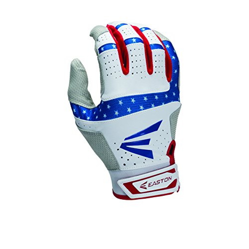 Easton HS9 Stars and Stripes Batting Gloves, White/Red/Blue, Small (Blue Batting Gloves compare prices)