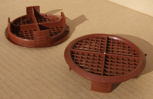 10 Number Brown Plastic Eaves Fascia Soffit Push In Roof Vent Airflow Ventilator 70mm 23/4