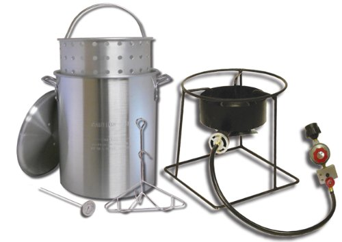 King Kooker 1266B 12-Inch Propane Outdoor Cooker with 29-Quart Aluminum Turkey Pot with Basket