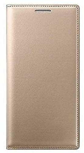 Snoogg High Quality Black Hard Back Leather Flip Case Cover For Xiaomi Redmi Note 3 (Gold, 16GB)  available at amazon for Rs.175