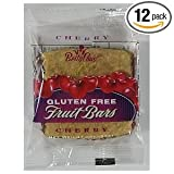 Betty Lou's Gluten Free Fruit Bars, Cherry,  2-Ounce Packages,  12 Count