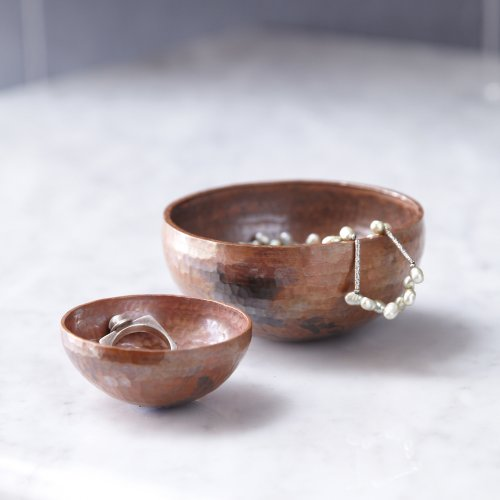 Native Trails Decorative Bowl, Hammered Copper, 3-inch