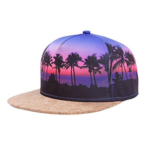 So'each Galaxy Hawaii Coconut Tree Print Flatbill Visor Snapback Cap Baseball Hat (Cool Snapbacks compare prices)