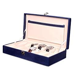Fico Blue Watch case For 12 Watches 12WC5