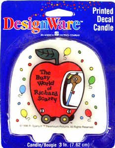 "The Busy World of Richard Scarry Printed Decal Candle Cake Topper 3"" - 1"