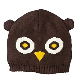 mossimo womens brown owl beanie winter
