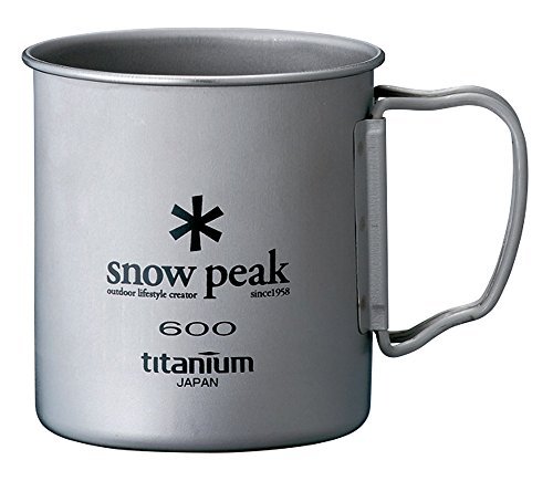 Snow Peak Titanium Single 600 Wall Cup - 600 ml (Titanium Single Wall Cup compare prices)