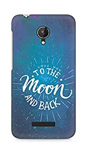 AMEZ love you to the moon and back Back Cover For Micromax Canvas Spark Q380
