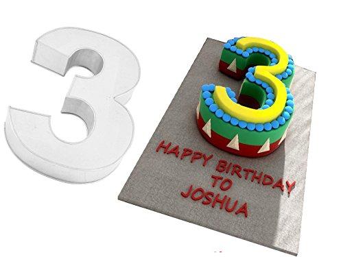 Small Number Three Birthday Wedding Anniversary Cake Tin