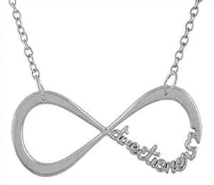 Stainless Steel One Direction Silver Infinite Directioner Pendant with a 20