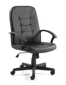 Rio Medium Back Black PU Office Chair
