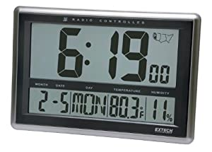 Extech CTH10 Radio-Controlled Wall Clock Hygro-Thermometer