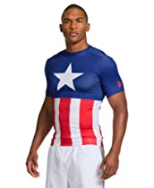 Under Armour Men's Alter Ego Short Sleeve Compression Shirt Small Royal