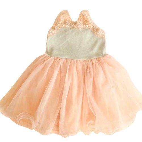 Little Hand Baby Girls' Summer Spaghetti Tutu Halter Pleated Lace Dress front-1071806