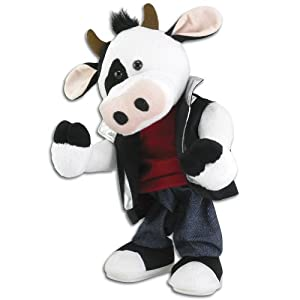 Musical Moos Like Jagger Plush Cow: Singing and Dancing Rock n' Roll Bovine
