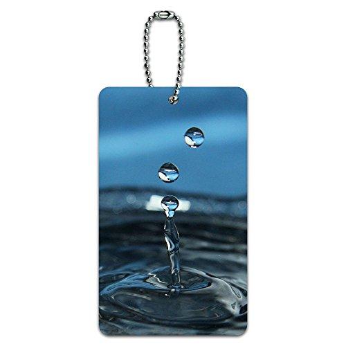 Tropfen Wasser-Tropfen Regen Raining ID-Tag Gepäck-Koffer Handgepäck