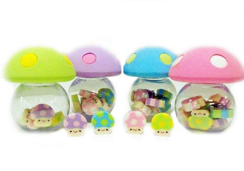 Mini Mushroom Eraser Set