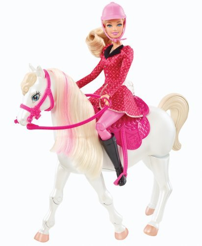 Hot Barbie and Her Sisters in a Pony Tale Train and Ride Horse Playset Children, Kids, Game, Child, Play
