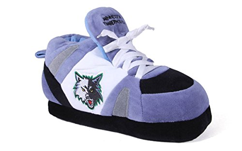 Happy Feet Mens and Womens NBA Minnesota Timberwolves - Slippers - Large (Comfy Feet Slippers Minnesota compare prices)