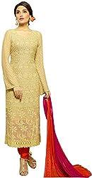 Matindra Enterprise Buy Latest Karachi Work Golden Chiffone Dress materials
