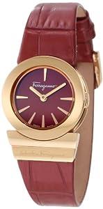 Salvatore Ferragamo Women's F70SBQ5008 SB08 Gancino Sapphire Crystal Burgundy Leather Watch by Salvatore Ferragamo