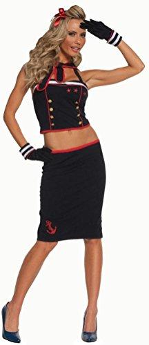 Coslove Sexy Seaside Pinup Sailor Costume Size Medium 6-10