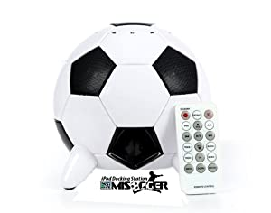 Speakal MISOCCER-MLS-BLK01 2.1 Stereo Speakers and Docking Station for iPod with 5 Speakers (Black/White)