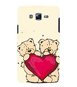 printtech Love Heart Teddy Bear Back Case Cover for Samsung Galaxy J1 (2016) / Versions: J120F (Global); Galaxy Express 3 J120A (AT&T); J120H, J120M, J120M, J120T Also known as Samsung Galaxy J1 (2016) Duos with dual-SIM card slots