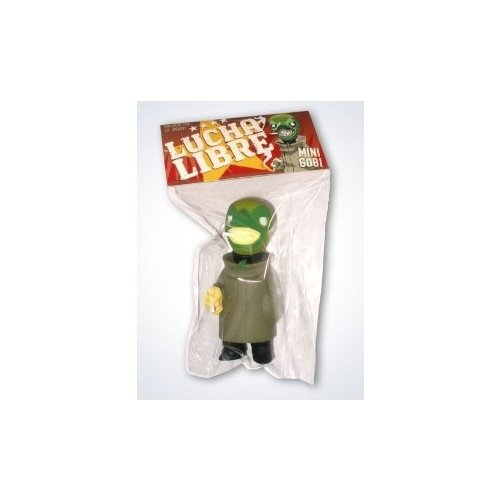 Muttpop Lucha Libre Mini Gobi - Green Mini Figure - 1