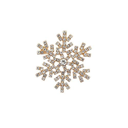 Lux accessori goldtone vacanze di Natale fiocco di neve spilla