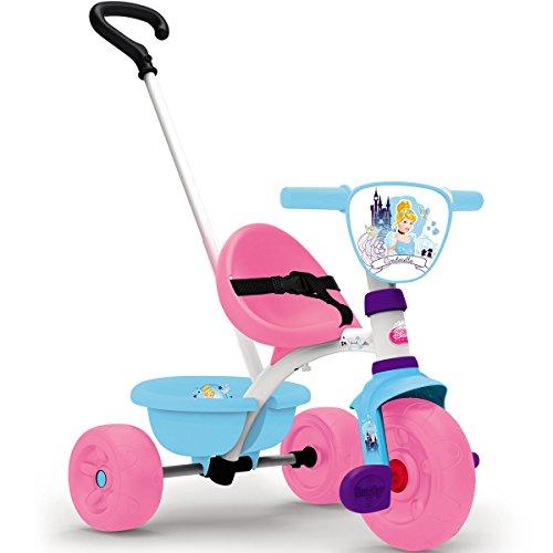 Cinderella Dreirad Be Move mit Schubstange, Kippwanne, verstellbarem Sitz || Kinder Baby Smoby Trike Kinderdreirad Schiebestange Rosa