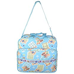 WALLETSNBAGS Women's PVC Polyester Baby Diaper Bag -Blue