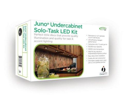 juno uk3stl 3k wh led puck light kit white finish. Black Bedroom Furniture Sets. Home Design Ideas