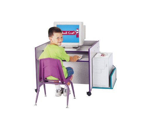 Buy Low Price Comfortable Kydz Computer Desk – Single – Teal – School & Play Furniture (B002LTMS8A)