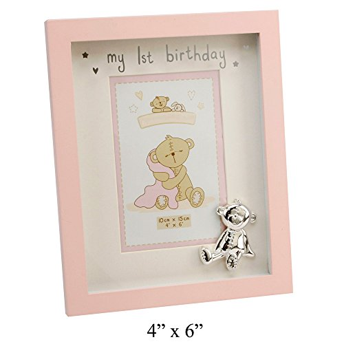 Girls My 1st Birthday Matt Baby Pink Photo Frame By Haysom Interiors - 1