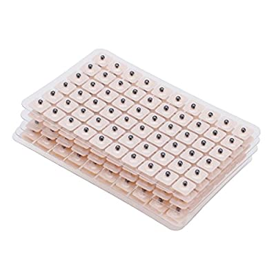 600pcs Disposable Ear Press Seeds Acupuncture Vaccaria Plaster Bean Massage for weight loss, Back pain, Headaches, Smoking Cessation, Anxiety, Insomnia, Stress, and Depression