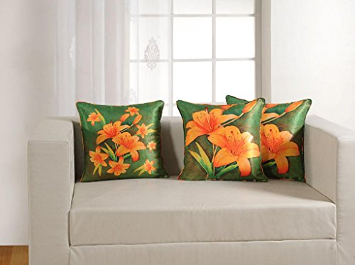 "Swayam Deco Printed Vibrant Color 5 Piece Cushion Cover Set - 16""x16"", Multicolor (DCC165-1153)"