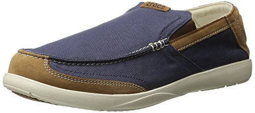 4657bf004 crocs Men s Walu Luxe Canvas Slip-On Loafer - Import It All