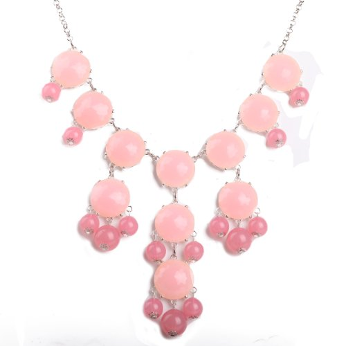 Bubble Necklace, Statement Necklace, Bubble Jewelry(Fn0508-S-Pink)