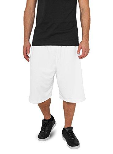 Urban Classics Bball Mesh Pantaloncino Da Uomo, Bianco - 3Xl